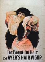 'For Beautiful Hair Use Ayer's Hair Vigor'