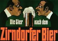 'The Craving for the Zirndurfer Beer' (colour lith