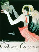 Advertisement for the 'Odeon Casino' (colour litho