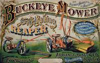 Poster advertising for 'Buckeye Mower and Self Rak