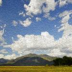"""Clouds over Taos Mountain"" by Wilford"