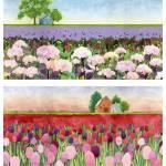 """crimson and hydrangea fields"" by studiobythesound"
