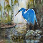 """Blue Heron bird"" by arlen"