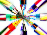 COLOR WHEEL OF BRIGHT CRAYONS FINE ART PHOTOGRAPHY