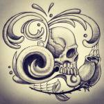 """Fancy Skull"" by ajkartworks"