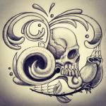 """""""Fancy Skull"""" by ajkartworks"""