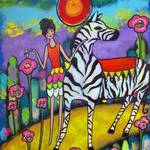 """A Zebra Tea Party"" by juliryan"