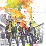 """The Beatles Walking the Street"" by idillard"