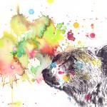 """Portrait of a Grizzly Bear"" by idillard"