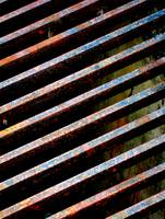 COLORFUL STREET GRILLE ABSTRACT METAL PHOTOGRAPH B