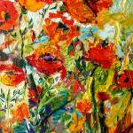 """Impressionist Red Poppies Provence oil Painting"" by GinetteCallaway"