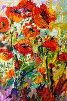 Impressionist Red Poppies Provence oil Painting