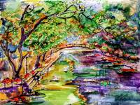 Annecy Canal Swans France Watercolor