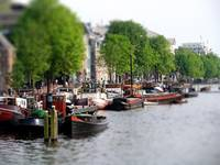 Boats in the Canals of Amsterdam