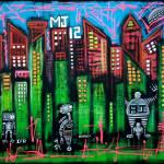 """Robo World - City of Secrets"" by ArtPrints"