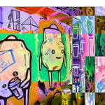"""Colored Blocks of Graffiti"" by Videotape"