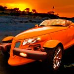 """Chrysler Plymouth Prowler Rocky Sunset"" by chassinklier"