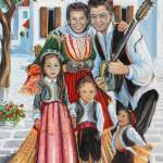 """Skiathos Family in Traditional Dress"" by yvonneayoub"