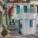 """Greek Island Townhouse"" by yvonneayoub"