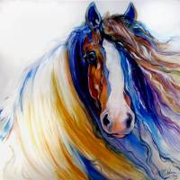 """GYPSY VANNER ROGUE"" by MBaldwinFineArt2006"