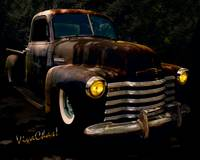 Chevy Hot Rat Rod Pickup Cowgirl's Last Stand