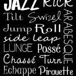 """Jazz Dance Subway Art  Poster"" by designsbyjaime"