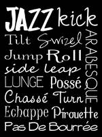 Jazz Dance Subway Art  Poster