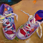 """Sneakers"" by jacquelinebrewerart"