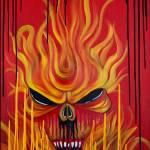 """""""Skull Fire"""" by ArtPrints"""
