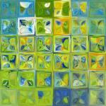 """Tile Art #5a, 1012. Modern Tile Mosaic FIne Art"" by MarkLawrence"
