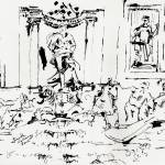 """Trevi Fountain Rome Italy Ink Drawing by Ginette"" by GinetteCallaway"