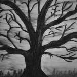 """Old tree with no leaves"" by MikeMBurkeDesigns"
