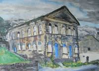 derelict parthenon in Haworth