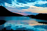 Sunrise at Meadowlark Lake Big Horn National Fores