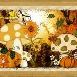 """Shroom Whimsical Autumn Fantasy Art"" by ReneeLozenGraphics"