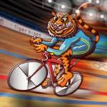 """Olympic Cycling Tiger"" by Zooco"