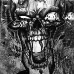 """Crazed Skull"" by DeviantOneDesigns"