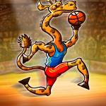 """Olympic Basketball Giraffe"" by Zooco"