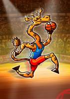 Olympic Basketball Giraffe
