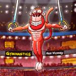 """Olympic Flying Rings Monkey"" by Zooco"