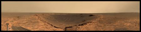 Panorma of Crater on Mars, location unknown