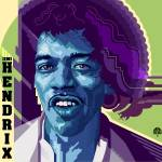 """Jimi Hendrix in Blue Violet"" by garthglazier"