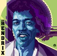 Jimi Hendrix in Blue Violet