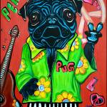 """Pugs Love Peace"" by ArtPrints"