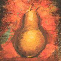 Pear Center Art Prints & Posters by sokolovich