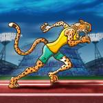 """Olympic Runner Cheetah"" by Zooco"