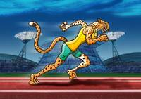 Olympic Runner Cheetah