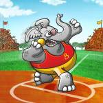 """Olympic Shot Put Elephant"" by Zooco"
