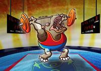 Olympic Weightlifting Hippopotamus
