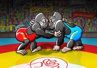 Olympic Wrestling Gorillas